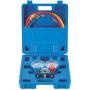 Manometro Analizador 2 Vias Aluminio Anticolision 80mm Con Visor R442, R453, R407F, R134