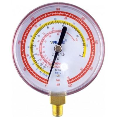 Manometro Alta Presion 70mm Rosca 1/8 R22, R404A, R407C, R134A Sin Puente