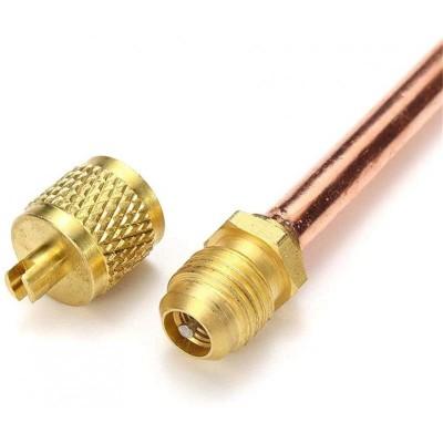 Obus 1/4 Valvula Carga Sin Tubo Refrigeracion Congelador Frigorifico